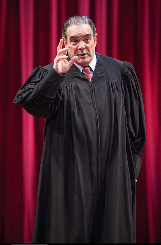 Edward Gero as Supreme Court Justice Antonin Scalia in The Originalist, which runs July 7-July 30, 2017 at Arena Stage at the Mead Center for American Theater. Photo by C. Stanley Photography.
