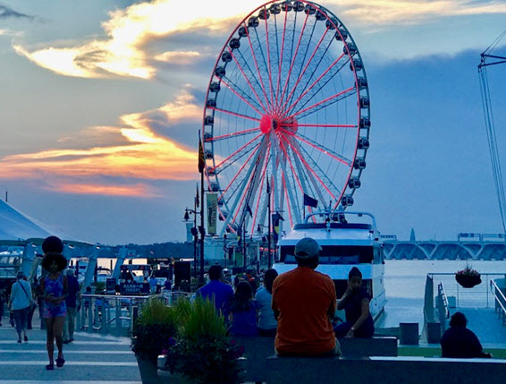 The Capital Wheel at sunset