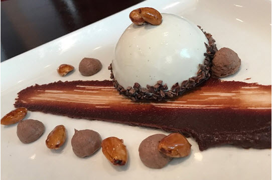 Heavenly chocolate bombe at iCi Urban Bistro
