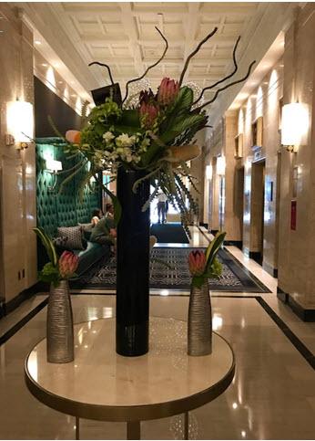 The lobby at the Sofitel