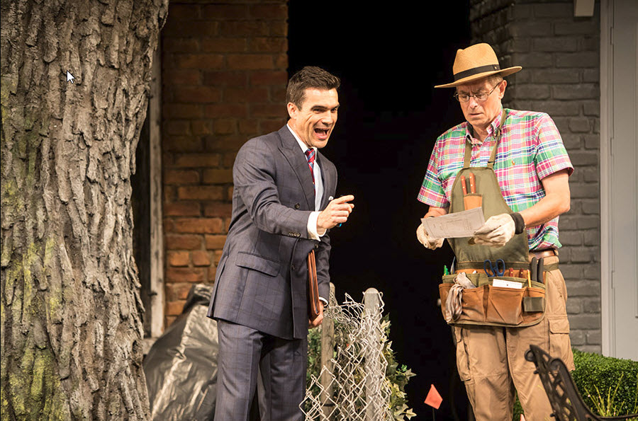 (L to R) Dan Domingues as Pablo Del Valle and Steve Hendrickson as Frank Butley. Photo by Dan Norman for Guthrie Theater