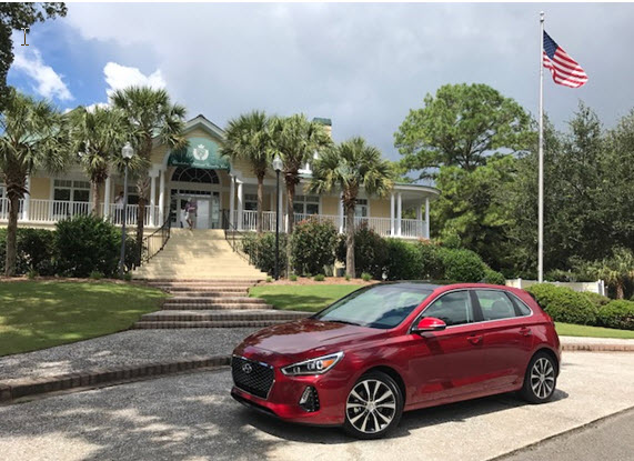 Hyundai's 2018 Elantra GT at the Charleston National Golf Club