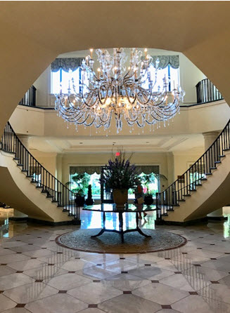 The lobby at the Belmond Charleston Place