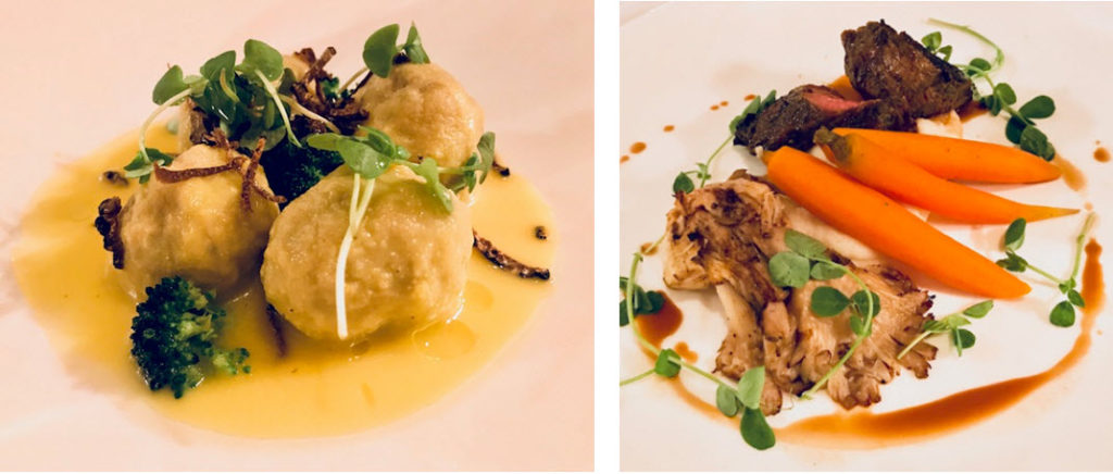 Dishes from Executive Chef Marc Collins at Circa 1886