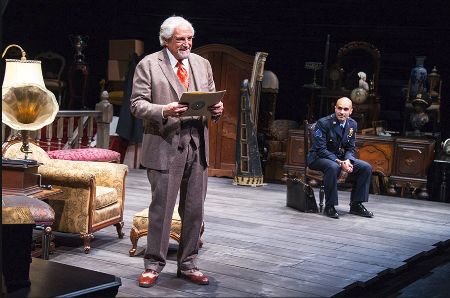 (L to R) Hal Linden as Gregory Solomon and Maboud Ebrahimzadeh as Victor Franz. Photo by Colin Hovde.