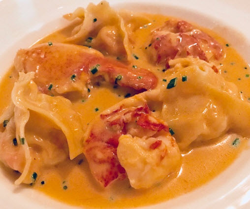 Fabio Trabocchi's famous lobster ravioli