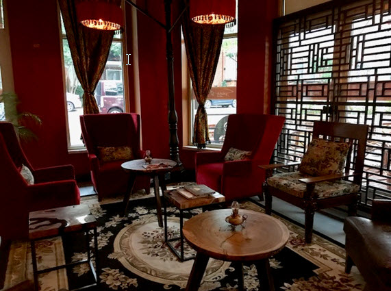 The cozy lounge at Sunday in Saigon