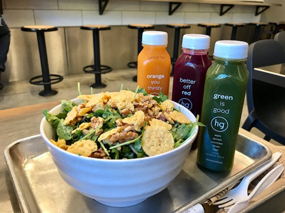 Freshly bottled juices and salad your way at honeygrow