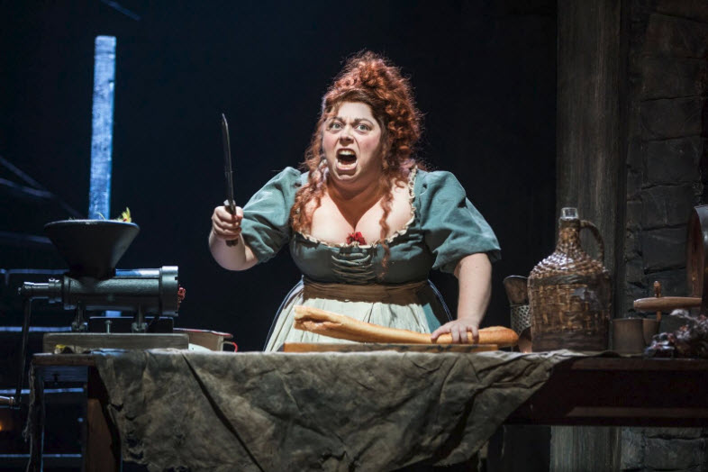 Allison Guinn as 'Madame Thénardier' ~ Photo by Matthew Murphy