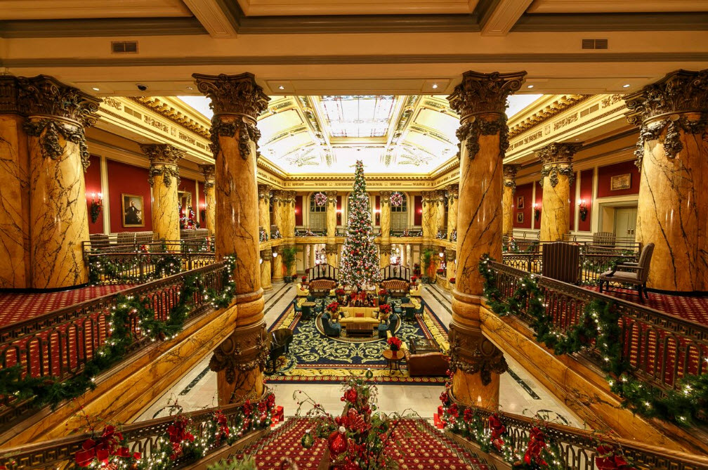 "Jefferson Hotel Holiday Tree ~ Photo credit - ""The Jefferson Hotel""."