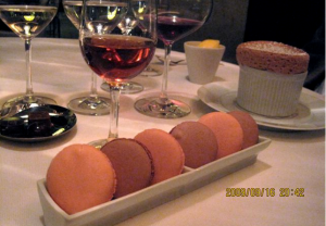 Macaroons, truffles and hazelnut souffle at Adour - credit Jordan Wright