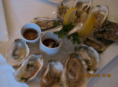 """Sting Rays"" and ""Old Salt"" oysters at Lemaire - photo credit Jordan Wright"