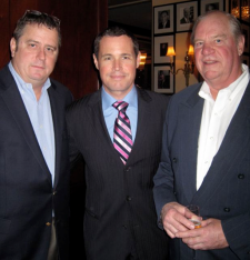 Chef Robert Wiedmaier, Jeff Corwin and Prime Seafood's Jim Chambers - photo credit Jordan Wright